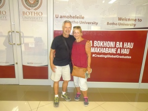 My most distant uni visit was to Botho University's campus in Maseru, the capital of Lesotho, in October 2016; had we actually known we were going to visit them, we would have dressed more appropriately for the occasion!